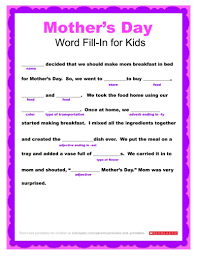 Check 20 free printable mothers day coloring pages. Mother S Day Word Fill In Printable Worksheets Printables Scholastic Parents