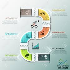 Process Template Modern Infographics Process Template With Paper Path Divided