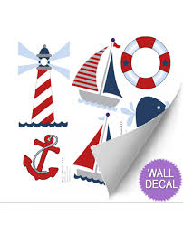 nautical wall mural removable vinyl stickers ocean themed