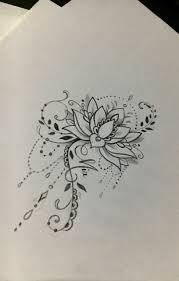 тату с цветком лотоса для девушек значение и эскизы 110 фото