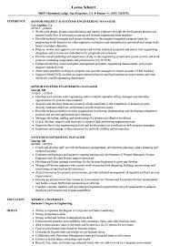 Systems Engineering Manager Resume Samples Velvet Jobs