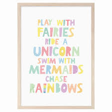 Play with fairies ride a unicorn swim with mermaids chase.