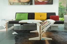 contemporary coffee table birch plywood square vegetale