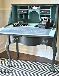 secretary desk blue diy modern