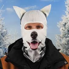 ANIMAL SKI MASK   Husky Dog