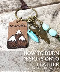burning designs onto leather leather pyrography