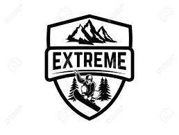 Emblem Design Extreme Emblem With Snowboarder Design Element For Label Emblem