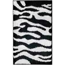 zebra bath mat image