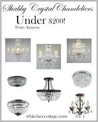crystal chandelier ideas for under   white lace cottage