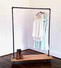 ... Wardrobe Racks, Black Clothing Rack Clothing Rack Target Black Pipe Clothes  Rack With Wooden Shelf ...