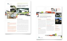 Architectural Design Datasheet Template Word Publisher