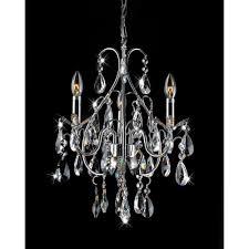 samantha 3 light chrome elegant crystal chandelier 19 h x 13 5