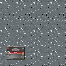 rust oleum rocksolid 152 oz dark gray polycuramine 2 5 car garage floor kit