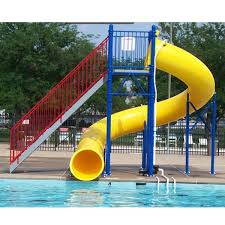 12 years manufacturer water play park fiberglass water slide for swimming pool for doha factory