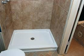fiberglass shower pan bathrooms or tile