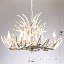 15 cast pure white elk antler chandelier 9 6 candelabra ceiling lights home lighting fixtures