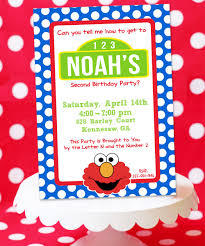 Awesome Elmo Birthday Invitation Templates For Template Free