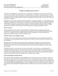 Literature Review Example Apa Pdf Writing A Psychology Literature Review Kmb