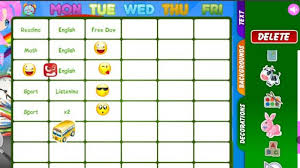 Schedule Table Maker Time Table Maker Magdalene Project Org