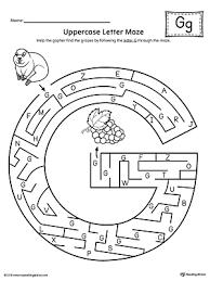 Uppercase Letter G Maze Worksheet