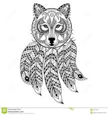Free Printable Wolf Coloring Pages For Adults With Dream Catcher To