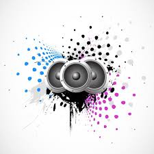 speakers art. music background with speakers free vector art s