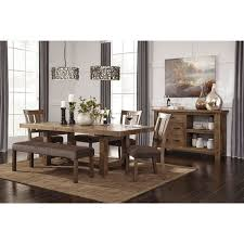 furniture kitchen dining room tables signature design by ashley tamilo gray brown rectangle extension dining room table brown