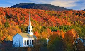 stowe munity church fall vermont c