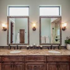 double vanity with two mirrors. double vanity bathroom boasts rustic elegance with two mirrors e