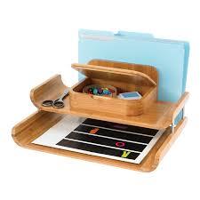 Desk Organizer Safco Bamboo Deluxe Desktop Organizer