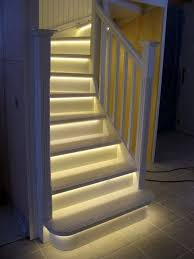 walking through your door on a cold dark evening and being greeted by this modern but oh so inviting staircase they have used simple led strip lights