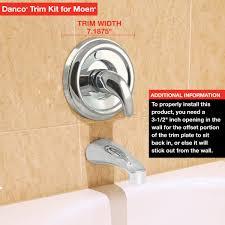 tub shower trim kit for moen in brushed nickel