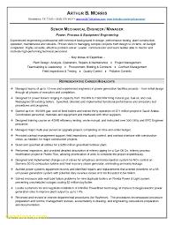 Elegant Resume Template Mechanical Engineer Best Templates