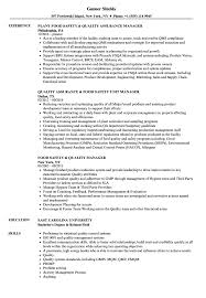 Food Quality Manager Sample Resume Food Quality Manager Resume Samples Velvet Jobs 8