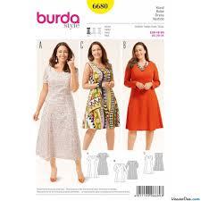 Burda Pattern Bd6680 Womens Dress Easy Weaverdee Com