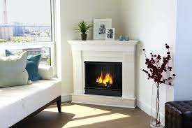 fresh corner natural gas fireplace for simple white corner gas fireplace with black log and white
