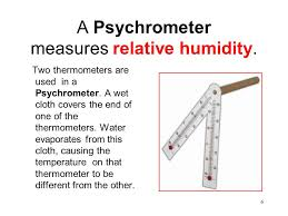 weather psychrometer. a psychrometer measures relative humidity. weather