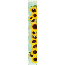 Sunflower Growing Chart Correll Sunflowers On Tapestry Personalized Growth Chart