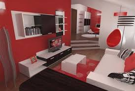 Red Room Interior Design Ideas White Chair In And Living Decor Black Red And White Living Room Ideas