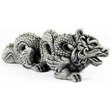 chinese concrete dragon garden