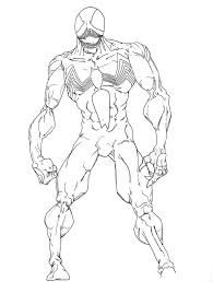 Small Picture Venom Coloring Pages Free Comic Book Coloring Pages Pinterest