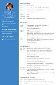 Administrative Assistant Information System Resume samples