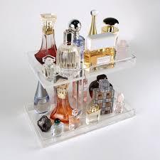 2 Tier Perfume Storage Tray, Acrylic Makeup Organizer Perfume Organizer