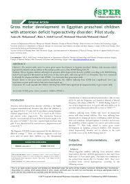 pdf original article gross motor development in egyptian pre children with attention deficit hyperactivity disorder pilot study