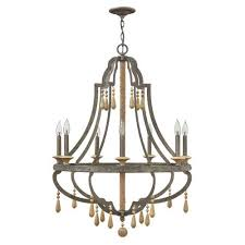 cordoba distressed iron 30 inch seven light chandelier