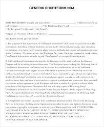 Nda Template Agreement Simple Nda Form Konmar Mcpgroup Co