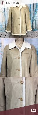 Utex Design Utex Design Faux Suede Coat Womens Size Medium This Is A