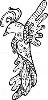 Cartoon Grappige Vogel Kleurplaat Hand Getrokken Doodle Doodle