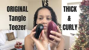 Battle of the <b>Tangle Teezers</b> | Original VS <b>Thick</b> & Curly | 3c - YouTube