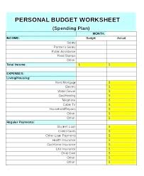 Excel Weekly Budget Spreadsheet Personal Weekly Budget Template